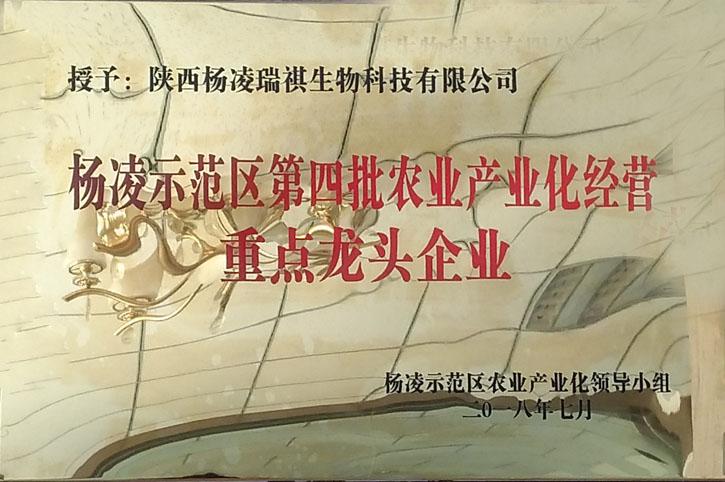 杨凌示范区第四批农业产业化经营细节龙头集团