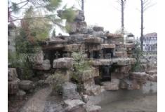 塑石假山生活区造景