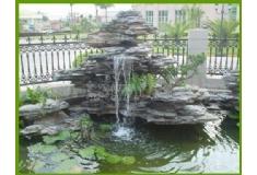 塑石假山小区水池