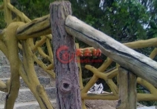 仿真树栏杆2