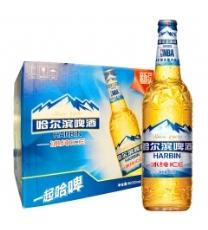 哈尔滨(Harbin) 小麦王啤酒 500ml*18听 麦香浓郁 一起 哈啤