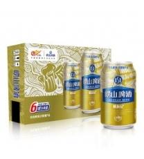 崂山啤酒 崂友记 10度 黄啤 330ml*24听