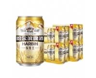 Harbin/哈尔滨啤酒小麦王拉罐330ml*24/箱礼盒装清醇爽口