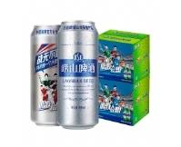 青岛崂山啤酒 普通罐装8度听整箱装 中超联赛合作 500ml*12*2箱