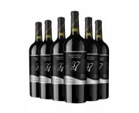 长城干红葡萄酒 长城北纬37解百纳6支干红酒整箱
