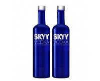 深蓝伏特加 SKYY美国进口原味VODKA洋酒 750ml/瓶